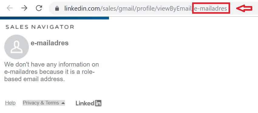 LinkedIn e-mailadres