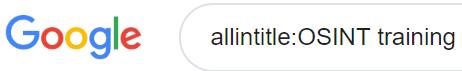 allintitle